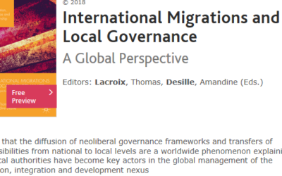 Parution d'un chapitre d'Hawa Coulibaly dans l'ouvrage collectif « International Migrations and Local Governance. A Global Perspective» (dir. T. Lacroix et A. Desille)