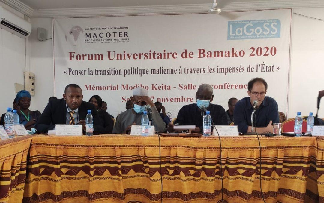 Forum universitaire de Bamako : un espace de rencontres entre universitaires et acteurs de la vie publique malienne pour penser la transition politique