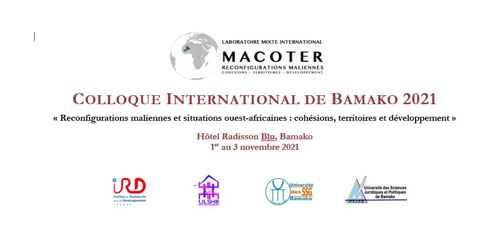 Colloque international de Bamako – 1er au 3 novembre 2021